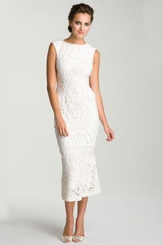 gorgeous unconventional & cheap wedding dress // JS Collections Soutache Overlay Gown, $ 368, available at Nordstroms