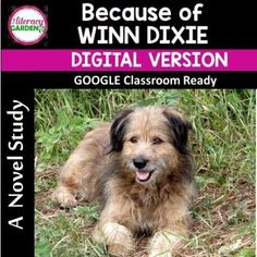 This is a DIGITAL novel study written for Because of Winn Dixie by Kate DiCamillo.Each chapter has editable text boxes for students to answer in GOOGLE Classroom.This novel study includes: open ended comprehension questions for each chapter.Skills include:♥ Drawing Conclusions♥ Multiple Meaning Word...