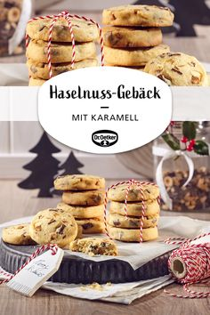 Hazelnut Caramel pastry- Haselnuss-Karamell-Gebäck Hazelnut and caramel pastries: Christmas roll biscuits with nuts and caramel cookies - Caramel Pudding, Caramel Tart, Caramel Cookies, Caramel Apples, Pastry And Bakery, Pastry Shop, Italian Pastry Cream Recipe, Sfogliatelle Recipe, Cookies
