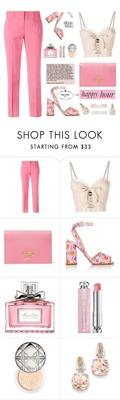 """Bottoms Up: Happy Hour"" by samra-bv ❤ liked on Polyvore featuring Ermanno Scervino, Prada, Puma, Christian Dior, BillyTheTree, Humble Chic and happyhour"