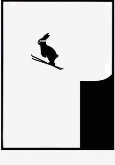 Skiënd konijn aan je muur!