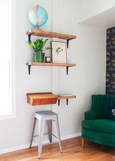 Create Shelves and a Desk with Ace Blogger, @yellowbrickhome