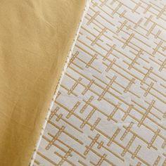 Mid-Century Organic Crosshatch Jacquard Duvet Cover + Shams