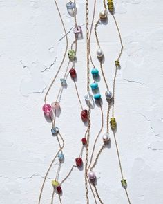 How to Make a Linked Bead Necklace by marthstewart #Jewelry #Crafts