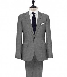 Reiss Youngs One Button Peak Lapel Suit Grey