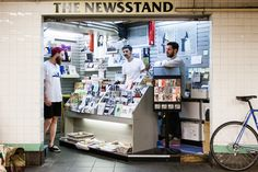 """This place is the Newsstand, a pop-up shop that has transformed an ordinary subway space into a store for independently published magazines, books, comics and zines."" No Porn, Just Books and Zines - NYTimes.com"