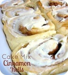 Cinnamon Rolls from cake mix - why havent i thought of this? This website is great!