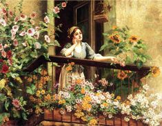The Athenaeum - A Pensive Moment (Daniel Ridgway Knight - )