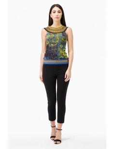 Printed tulle top sleeveless, with viscose knit trims at neckline and bottom. Model shown is 177 cm wearing a size Small. Made in Italy Spring Summer Collection 2017 www.fuzzishop.com & www.fuzzishop.us free shipping and free returns - spedizione e resi gratuiti - made in italy -#fuzzi #fuzzishop #colorful #glam #girls #women #womenswear #fashionblogger #cool #ootd #outfit #fashion #style #outfits #passion #love #gift #stylish #shopping