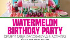 See how great the new line of Deco Art Americana Premium Paints blend together to create a beautiful watermelon canvas art this summer! Watermelon Birthday Parties, Birthday Party Desserts, Birthday Party Decorations, Kids Canvas, Canvas Art, Beach Sand Castles, Americana Paint, Art For Kids, Crafts For Kids
