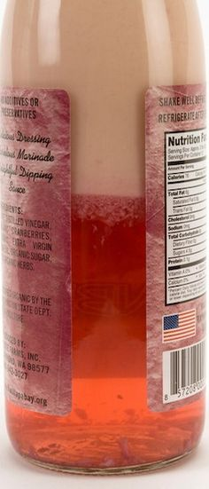 Our #raspberry flavored dressing. Just shake it up!
