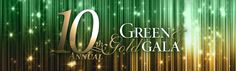 Graphics for the 10th Annual Green & Gold Gala