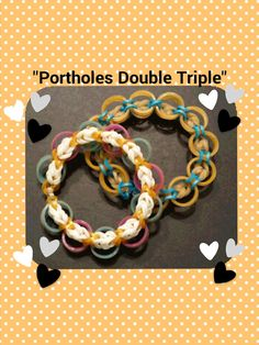 "New ""Portholes Double Triple"" Hook Only Rainbow Loom"