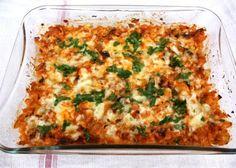 Zapekaný karfiol so šampiňónmi, Delená strava - recepty, recept Vegetable Recipes, Lasagna, Food Inspiration, Quiche, Macaroni And Cheese, Vegetarian, Vegetables, Cooking, Breakfast