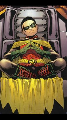 Robin. Ah yes I believe this was from the teen titans comic
