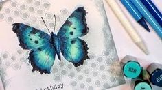 how to colour a butterfly - YouTube