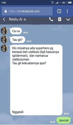 Memes indonesia chat new ideas Quotes Lucu, Jokes Quotes, Funny Quotes, Funny Memes, Funny Chat, Funny Baby Pictures, Meme Pictures, Jokes For Teens, Drama Memes