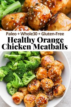 Healthy Meatballs, Recipes Using Meatballs, Healthy Salad Recipes, Paleo Recipes, Lean Dinners, Healthy Orange Chicken, Chicken Meatball Recipes, Whole 30 Lunch, Easy Asian Recipes