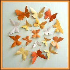 Butterfly paper wall art!!