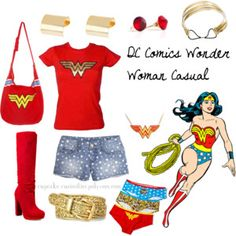 A way for you to cosplay your favourite characters every day! Super Hero Outfits, Cool Outfits, Fashion Outfits, Women's Fashion, Cartoon Outfits, Disney Outfits, Wonder Woman Outfit, Wonder Woman Birthday, Estilo Disney