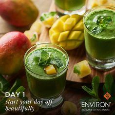 Ενισχύστε το δέρμα σας με ένα χυμό από μάνγκο και σπανάκι. #LiveBeautifully Δείτε περισσότερα •>http://bit.ly/2fQxfVK