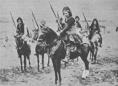 Members of the Irregular Kurdish Cavalry fighting the Russians (GW). WW I