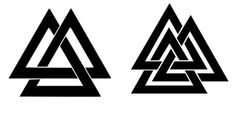 valknut-symbol-unicursal-borromean In this article, you will find the 5 main Viking symbols to know and their meanings. You will learn if these symbols were actually used by the Vikings and under what circumstances. Viking Rune Tattoo, Rune Viking, Norse Tattoo, Viking Tattoos, Viking Art, Armor Tattoo, Warrior Tattoos, Inca Tattoo, Viking Warrior