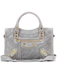 mytheresa.com - Classic Metallic Edge Mini City suede shoulder bag - Bags - Luxury Fashion for Women / Designer clothing, shoes, bags