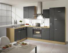 Modern Gray Kitchen Cabinets  #TT143 (Alno.com, Kitchen-Design-Ideas.org)
