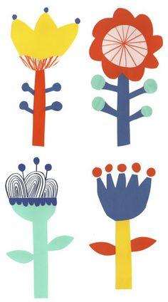 48 best ideas for flowers illustration kids print patterns Diy With Kids, Art For Kids, Kids Prints, Art Prints, Illustration Blume, Illustration Kids, Illustration Flower, Flower Illustrations, Stoff Design