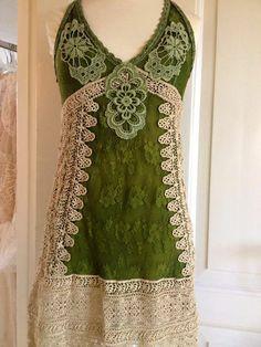 Scottish Plaid Wedding Dress Crochet