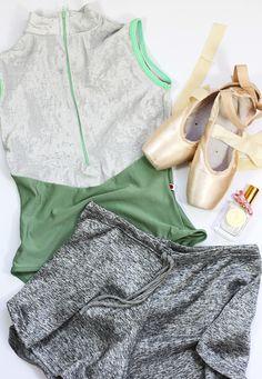 Yumiko Jessica leotard; Danseuse Wendy shorts in Grey; Grishko Nova Pro pointe shoes; Angela Flanders Rose Poudree perfume