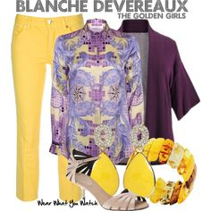 Inspired by the late Rue McClanahan as Blanche Devereaux on The Golden Girls.