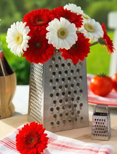 cheese grater flower