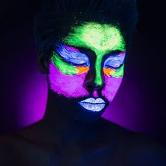Girl with Neon face  paint
