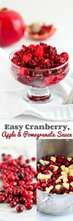 Wow your Thanksgiving guests with this delicious Cranberry, Apple and Pomegranate Sauce that can be made in less than 20 minutes.