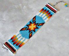 off loom beading techniques Loom Bracelet Patterns, Beaded Earrings Patterns, Bead Loom Bracelets, Bead Loom Patterns, Jewelry Patterns, Beading Patterns, Indian Beadwork, Native Beadwork, Native American Beadwork
