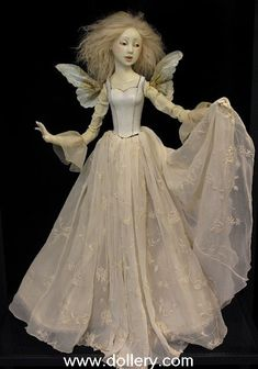 """White Fairy"" by Lucia Friedericy of Friedericy Dolls.  ooak 27"""