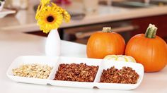 Pin for Later: 21 Pumpkin Appetizers That Get the Party Started Pumpkin Seeds Three Ways Get the recipe: pumpkin seeds three ways: salty, savory, and sweet