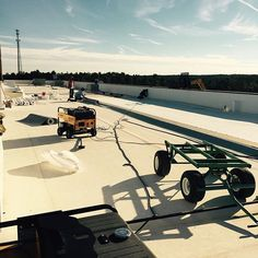New TPO roof going on the Harley Davidson in Elgin, SC due to hail damage. Contact us for all your flat roofing needs! Drake, Harley Davidson, To Go, Exterior, Flat, Pictures, Photos, Bass, Outdoor Spaces