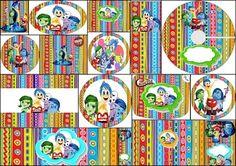 Cumpleaños de Del Revés: Etiquetas para Candy Bar para Imprimir Gratis.