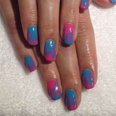 Drippy gel manicure - This is so rad...even though I know this would drive me crazy after 1 day