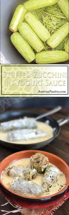 A tangy comfort food, side dish that pairs very well with any type of meat. A Lebanese stuffed zucchini recipe that can be easily turned into a vegetarian meal.