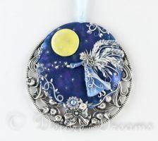 Born from the Moon Angel Fairy Art Pendant by DeidreDreams