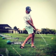 Practice my chipping slow flop shot swing. #McCarthyAudiGolfCompetition