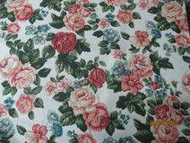 Bawełna wzór róże