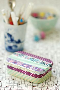 Washi Tape Gifts ~ mint tins decorated