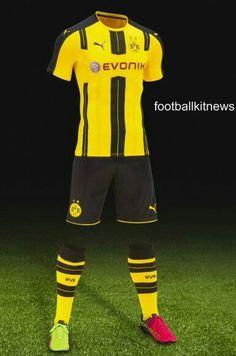 e0c3b0efc6e Borussia Dortmund 2016-17 Soccer Shirts, Football Uniforms, Kit, Seasons,  Football