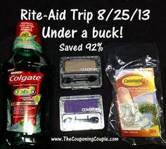Rite-Aid Couponing Trip on 8-25 | The Couponing Couple
