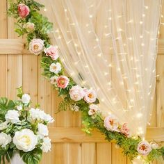 Nothing creates a more romantic atmosphere than lighting - and our Victoria Lynn™ curtain lights are lined with 147 mini lights to create a warm, white glow. Use this curtain to create backdrops for p Diy Backdrop, Wedding Ceremony Backdrop, Backdrop Lights, Wedding Backdrops, White Backdrop, Backdrop With Flowers, Vintage Backdrop, Party Backdrops, Backdrop Design